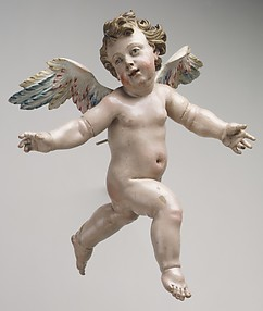 Winged cherub