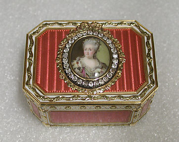 Snuffbox with portrait of Catherine II (1729–1796), Empress of Russia