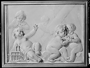 Putti with birds