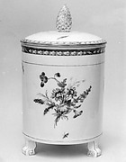 Jar with cover (one of a pair)