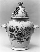 Potpourri vase with cover (one of a pair)