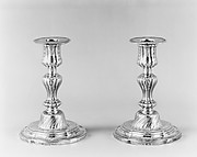 Pair of candlesticks (part of a toilet service)
