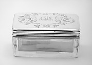 Pair of crystal boxes with covers (part of a set)