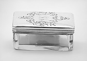 Crystal box with cover (part of a set)