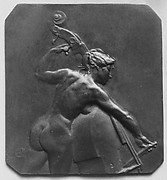 Female figure playing the bass-viol