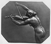 Female figure playing violin