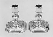 Pair of dressing table candlesticks