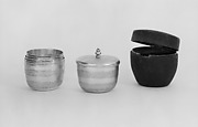 Set of six nesting beakers with case