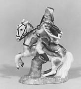 Hussar mounted on white stallion
