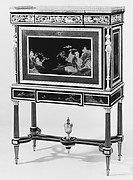 Drop-front secretary on a stand (Secrtaire  Abattant or Secrtaire En Cabinet)