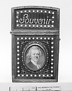 Souvenir with portrait of a man