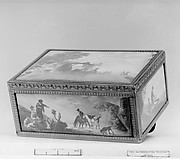 Snuffbox with hunting scenes