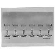 Wine or cordial glasses (set of six)