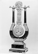 Clock in the form of an oscillating pendulum (pendule oscillante)