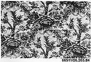 Floral print with hunting scenes