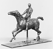 Horse with Jockey; Horse Galloping, Turning the Head to the Right, the Feet Not Touching the Ground