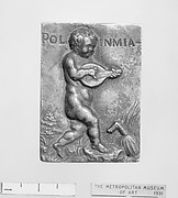 Putto with attributes of the Muse Polymnia