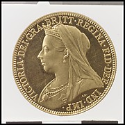 Queen Victoria proof double sovereign