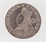 Elizabeth I sixpence coin