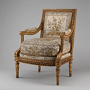 Armchair (Fauteuils  La Reine) (one of a pair)