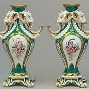 Pair of elephant-head vases (vases à tête d'éléphant)