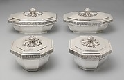 Set of four octagonal boxes