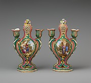Potpourri vase with candleholders (pot-pourri à bobêche) (one of a pair)