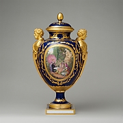 Vase with cover (Vase des ges) (one of a pair)