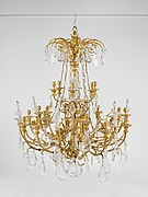 Twenty-four-light chandelier (one of a pair)