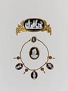 Parure: tiara, necklace, and brooch