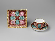 Small tray, cup and saucer (Djeuner carr)
