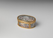 Snuffbox with six scenes of country pastimes