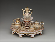 Coffee and tea service (Djeuner chinois reticul)