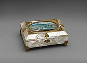 Sewing casket with view of Weilburg near Baden in Austria