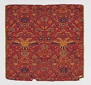 Textile with crowned double headed eagles
