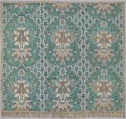 Panel of lace-patterned silk