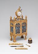 Nécessaire incorporating a watch (one of a pair)