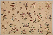 Petticoat panel with chinoiserie motifs (one of two)