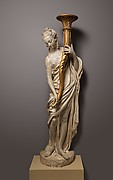 Torchère figure (one of a pair)