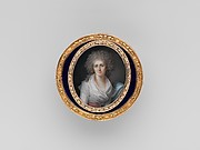 Box with miniature portrait of a woman