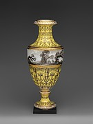 Vase with scenes of storm on land