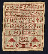Sampler made at a charity school