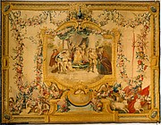 The Memorable Judgement of Sancho Panza from a series of tapestries with scenes from Don Quixote (number twenty-four in a series of twenty-eight)