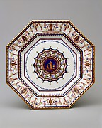 Plate (assiette octogone or assiette platte) from the