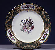 Plate (Assiette  palmes) (1 of 102) (part of a service)