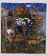 Aeneas and His Companions Sacrifice to the Gods before the Tomb of his Father, Anchises, in Sicily (Aeneid, Book V)