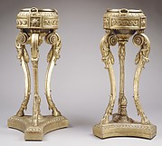 Pair of tripod stands (athèniennes)