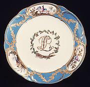 Plate (assiette à palmes) (one of four) (part of a service)
