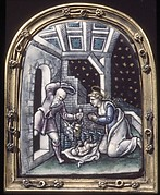 Adoration of the Infant Christ (one of a pair)