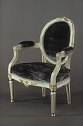 Oval-back armchair